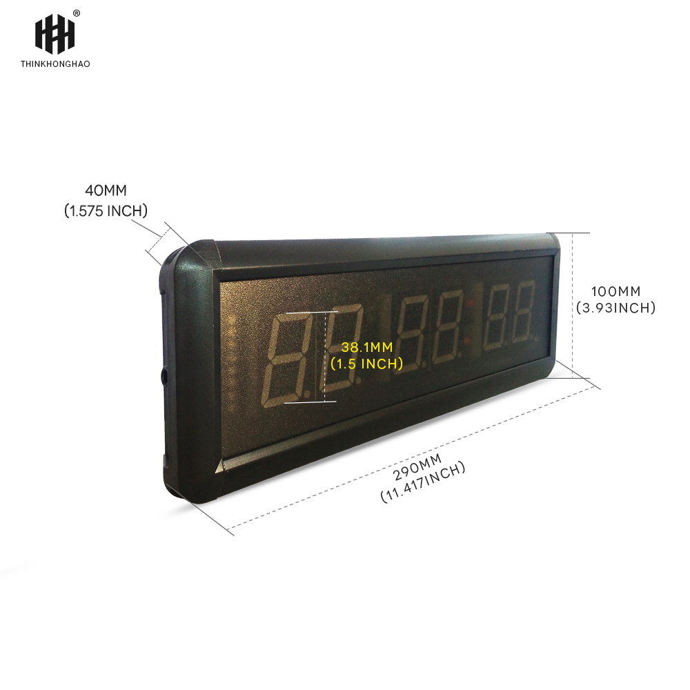 transporti falas 1.5 GYM Crossfit Timer LED Interval Koha e Trajnimit - Dekor në shtëpi - Foto 4