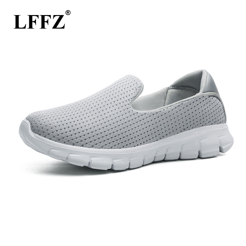 LFFZ 2018 New Breathable Walking Shoes Soft Bottom Women Sneakers Light Casual Shoes For Women Flat Shoes JH123 e lov women casual walking shoes graffiti aries horoscope canvas shoe low top flat oxford shoes for couples lovers