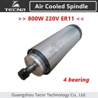 800W Air Cooled Spindle ER11 Milling Spindle 1 5KW 220V 65 188MM With 4 Bearing