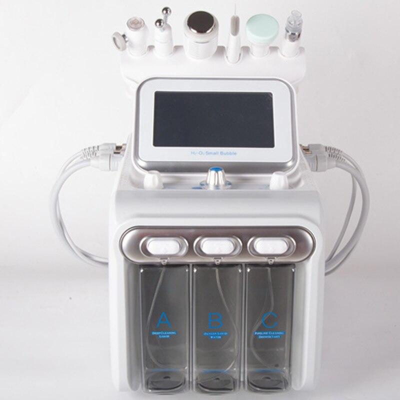 Hot Hydrogen Oxygen Small Bubble 6in1skin Scrubber Compact Blackhead Diamond Peel Hydra Dermabrasion Beauty Machine