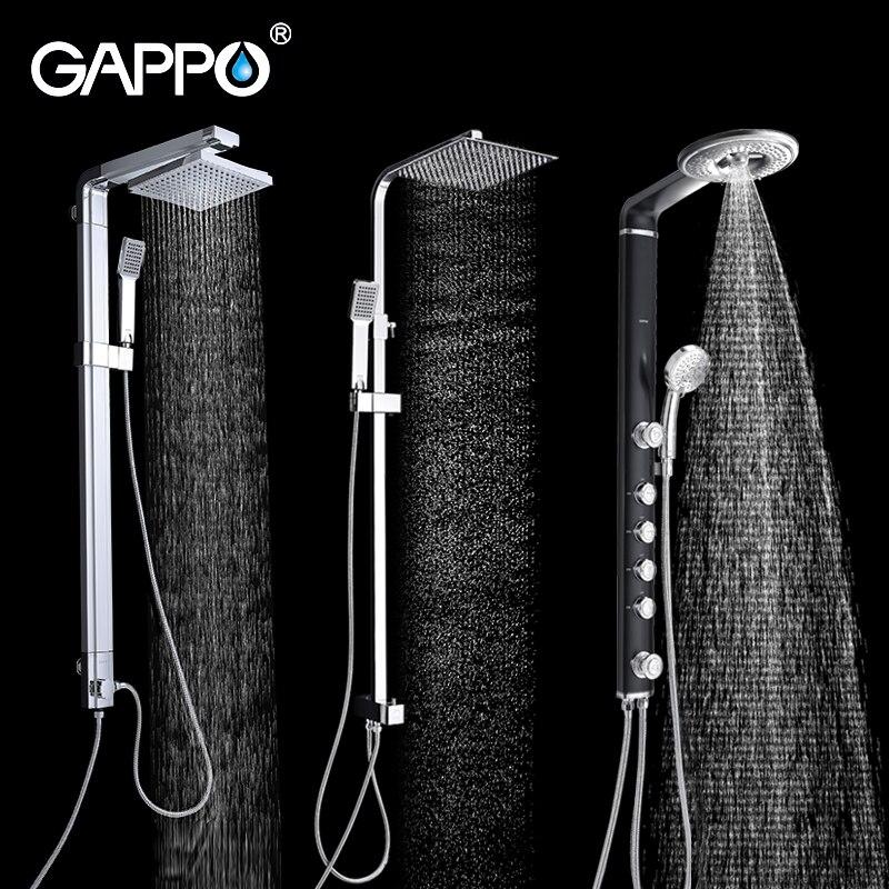 GAPPO Shower Faucet bathroom shower faucet taps chrome bath shower mixer bathtub faucet waterfall rain shower