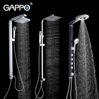 GAPPO Shower Faucet bathroom shower faucet taps chrome bath shower mixer bathtub faucet waterfall rain shower head set
