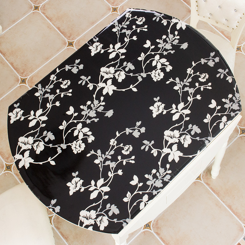 1 0mm thick colour table covers for dining oval table decor waterproof pvc plastic tablecloth home