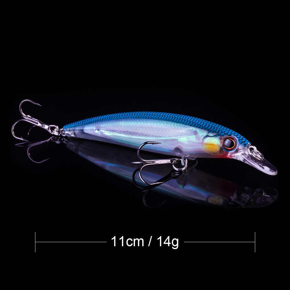 Biwvo señuelos crankbait para pesca Minnow Artificial manivela Wobbler para Trolling invierno productos para pesca duro mar de hielo de la plantilla de Metal