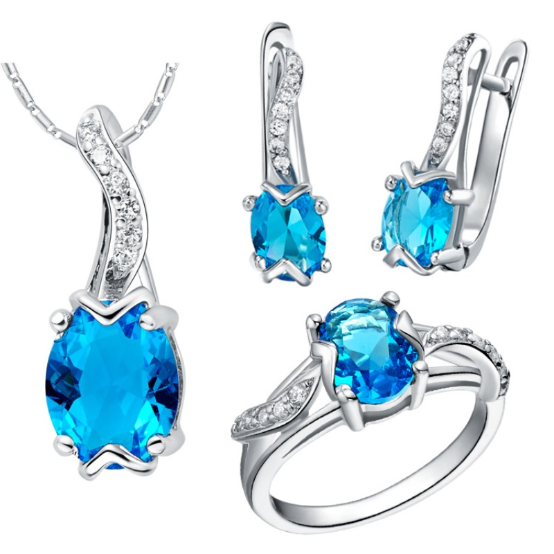 2016 sterling silver jewelry Sets Luxury Turtle Red Crystal Wedding Accessories 925 Sliver Earrings Pendant Necklace