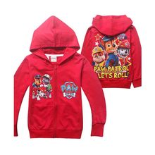 2016 casual design normal size red autumn cotton children's coat with zapper