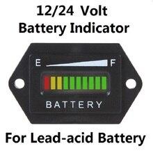 12V – 24V Battery Indicator Meter Tri-colors for truck RV Golf cart – Hex Shape Waterproof
