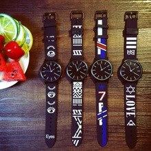 Nuevo 2017 de La Moda Coreana Estudiante de Cuarzo Reloj de Pulsera de Silicona Reloj Deportivo Para Niñas niños Hombres Mujeres vestido relojes school