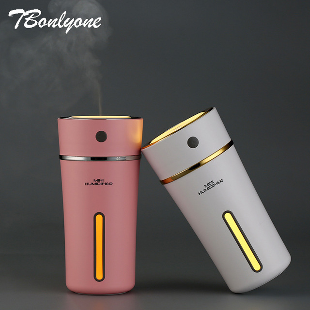 TBonlyone 300ML Cup Humidifier with Rechargeable Battery Water Soluble Oil Aroma Diffuser Filter Type Ultrasonic Air Humidifier