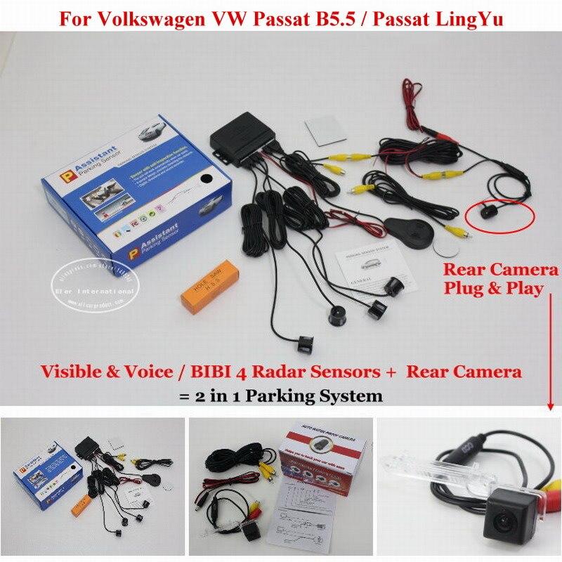 Para volkswagen vw passat b5.5 passat lingyu-sensores de aparcamiento + Cámara d
