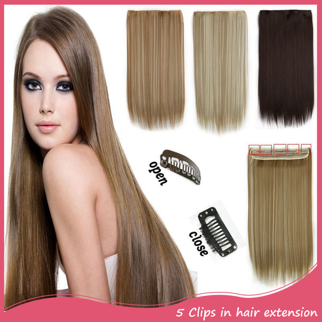 Extensiones De Pelo Natural 5clip In Hair Extensions 24inch 60cm