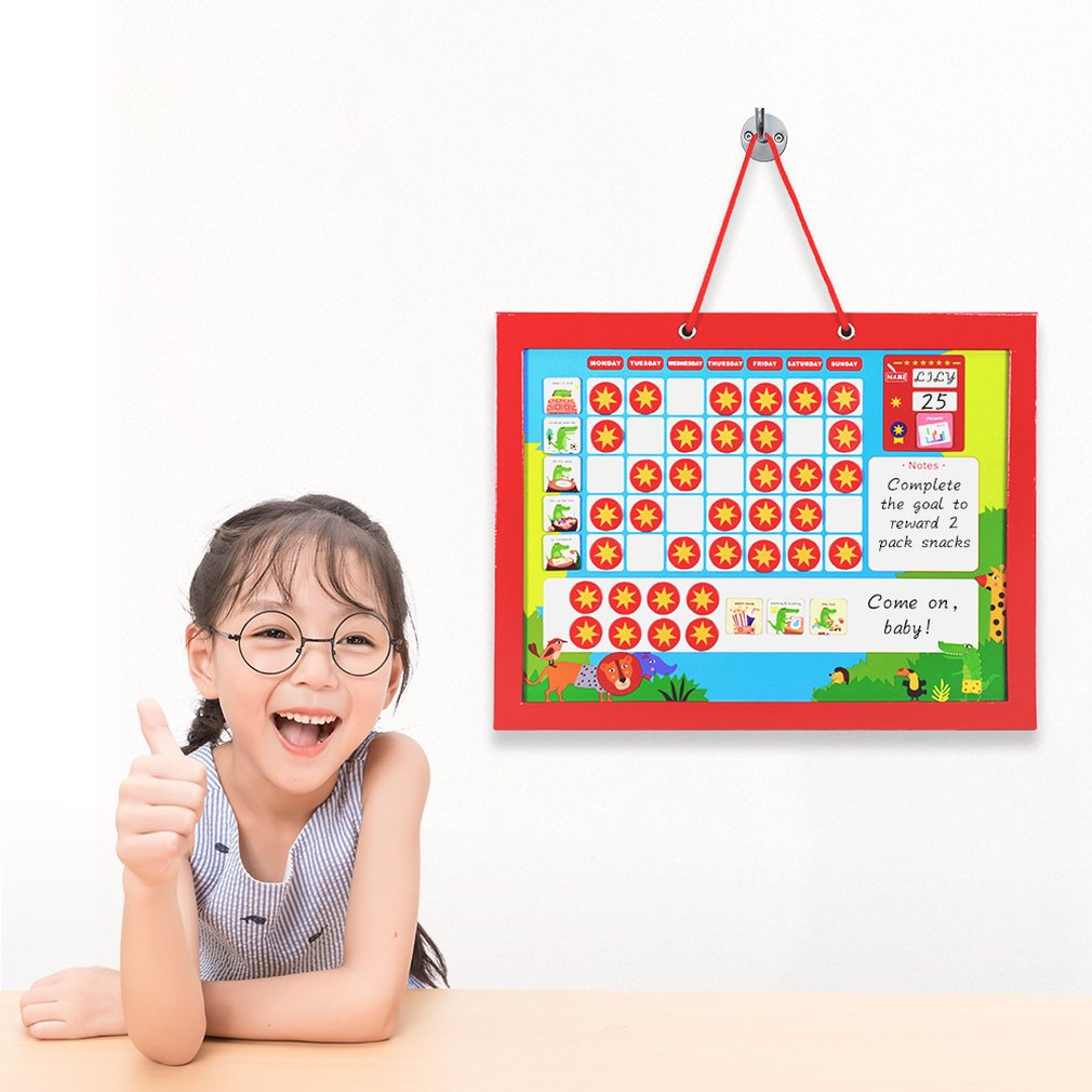 Wooden Magnetic Animal Chart Time Toys Educational Magnetic Reward Toy Behavior Record Board Playboard for Children Kids in Puzzles from Toys Hobbies