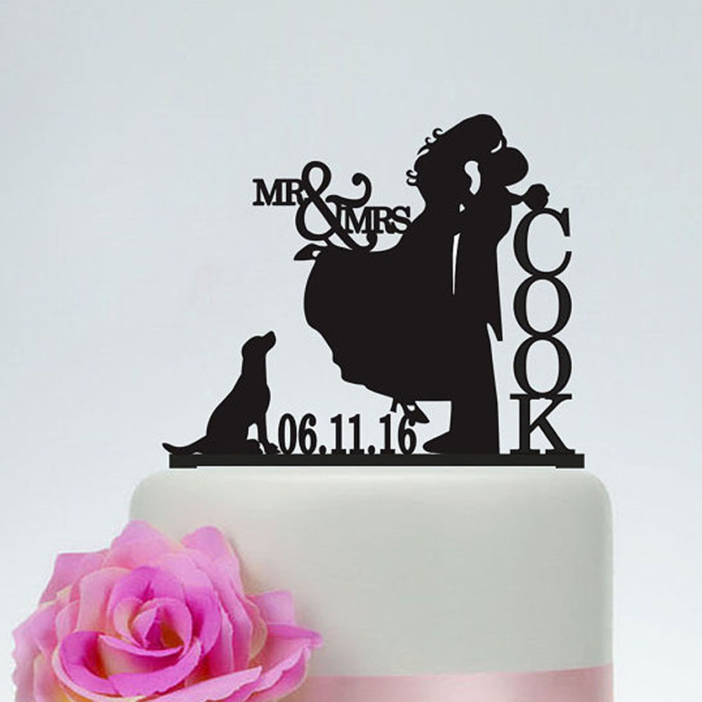 Customized Wedding Cake Toppers Letters Engaged Cake Topper Groom ...