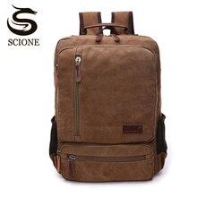 Vintage Canvas Backpack Men Large Capacity Travel Shoulder Bag High Quality Fashion Students Bag Laptop Male notebook Backpack
