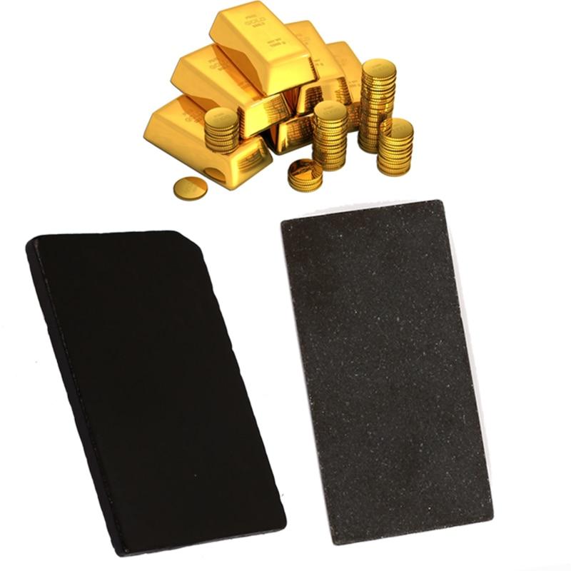 Золотой тестовый камень Touchstone, золотой тестовый инструмент, ювелирный производитель, тест на чистоту золота, портативный метеорит, сланец, практичный