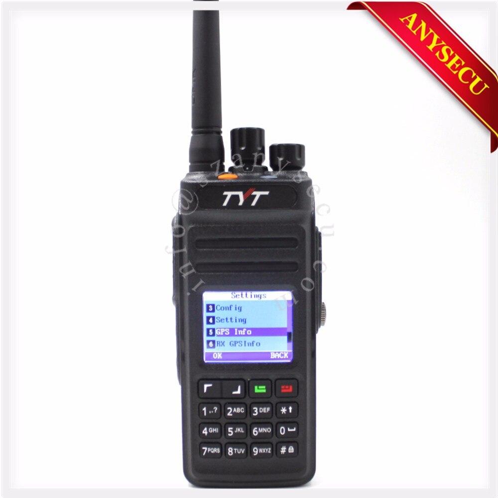 New Model GPS TYT MD398/MD 398 Waterproof DMR Digital Handheld Two way radio/walkie talkie IP67 10W 400 470MHZ walkie talkie GPS