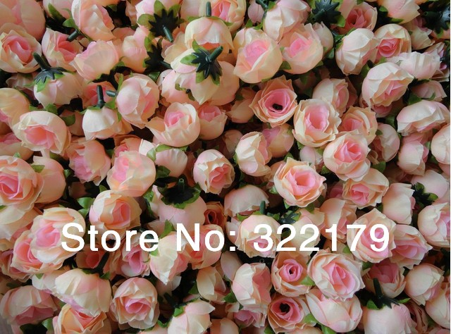 Aliexpress buy wholesale 500x champagne silk rose heads cheap wholesale 500x champagne silk rose heads cheap artificial flower in bulk for wedding arrangement bridal hairclips mightylinksfo
