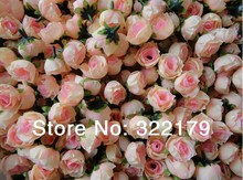 Buy bulk artificial flowers and get free shipping on aliexpress 500x champagne silk rose artificial flower for wedding mightylinksfo
