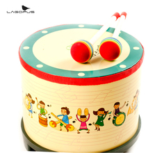 Soft Wooden Baby Drums Percussion Korea Style Musical Toy Drum Set Gift for Kids New