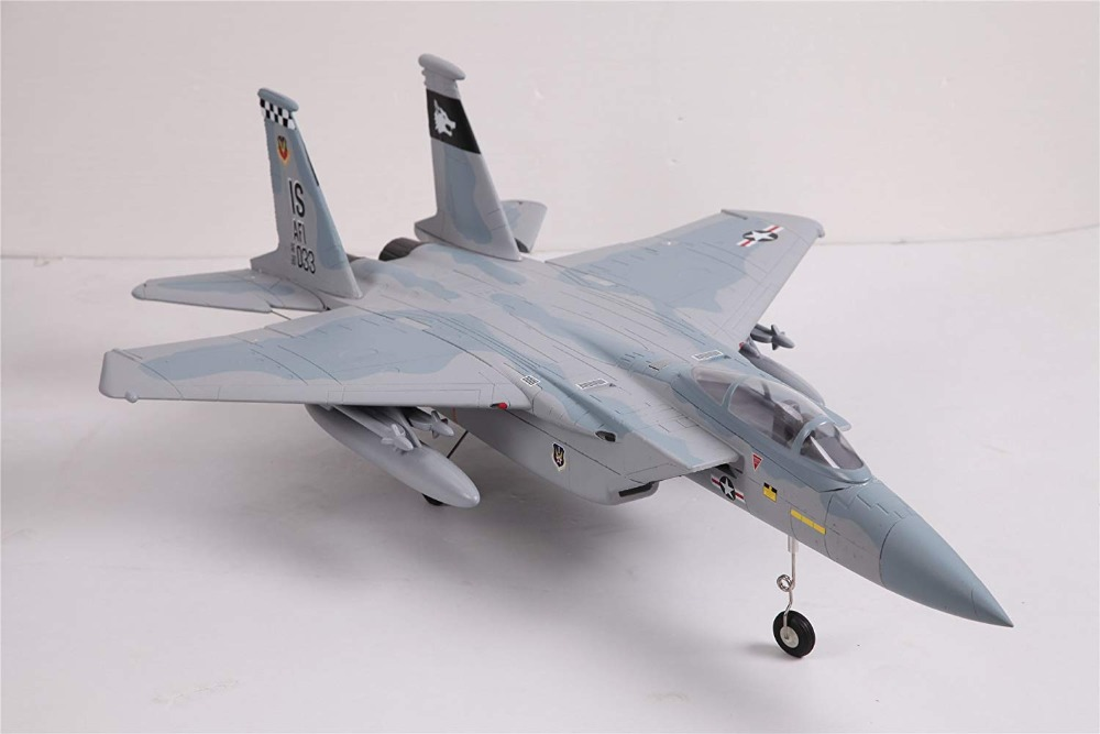 FMS RC Airplane 64mm F15 F-15 V2 Eagle Ducted Fan EDF Jet Sky Camo 4S Scale Warbird Fighter Model Hobby Plane Aircraft Avion PNP