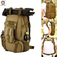40L deporte al aire libre militar táctica mochila de alpinismo escalada Camping senderismo Trekking mochila de viaje bolso al aire libre