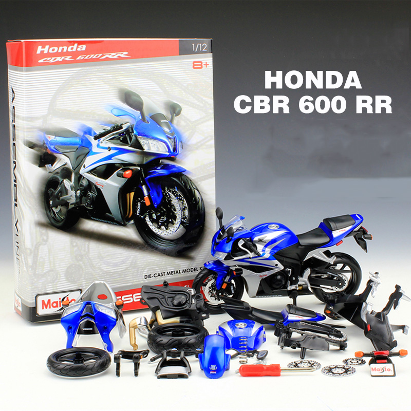 Maisto 1:12 Motorcycle Toy CBR600RR Simulation Motor Car DIY Model Building Kits Kids Toys
