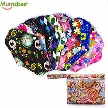 [Mumsbest] 10 шт многоразовые тканевые менструальные прокладки+ 1 Мини влажный мешок бамбуковый уголь прокладки для беременных моющийся санитарный прокладки случайные цвета