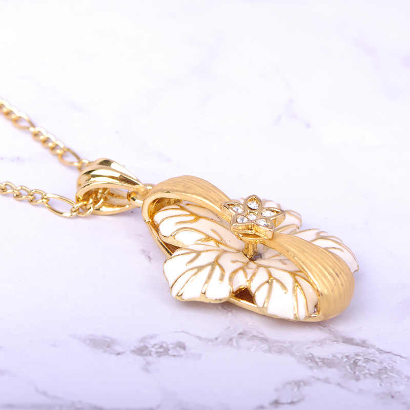 Blucome Emaille Blume Halskette Ohrring Ring Sets Matte Gold Farbe Kristall Strass Dubai Indische Hochzeit Braut Schmuck Set