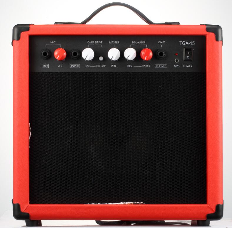Top Quality 20W Mini Portable Amplifier Amp With 6.5 Inches Electric Guitar Speaker Microphone Speaker Free Shipping hot sale top quality white lp custom guitar with golden hardware electric guitar free shipping white color