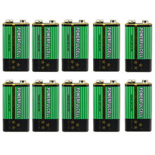 Cncool 10x 6F22 1604D 9V Battery Primary Zinc Carbon Batteries for Alarm Wireless Microphone No Mercury New Drop Ship