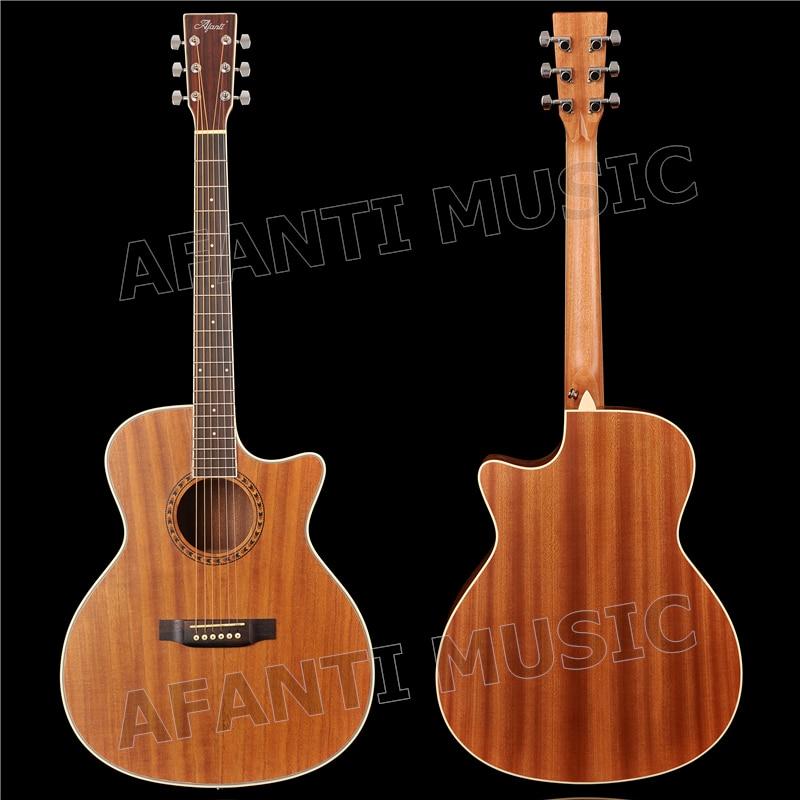 41 pouce Acoustique/Solide Paulownia top/Sapele dos et côtés/AFANTI Acoustique guitare (AFA-900)