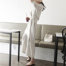 Elegant Loose Cotton Linen Jumpsuit