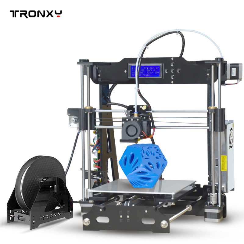 Tronxy Upgraded Quality High Precision Reprap 3D printer DIY kit P802E bowden extruder Auto leveling E3DV5 new anet e10 e12 3d printer diy kit aluminum frame multi language large printing size high precision reprap i3 with filament