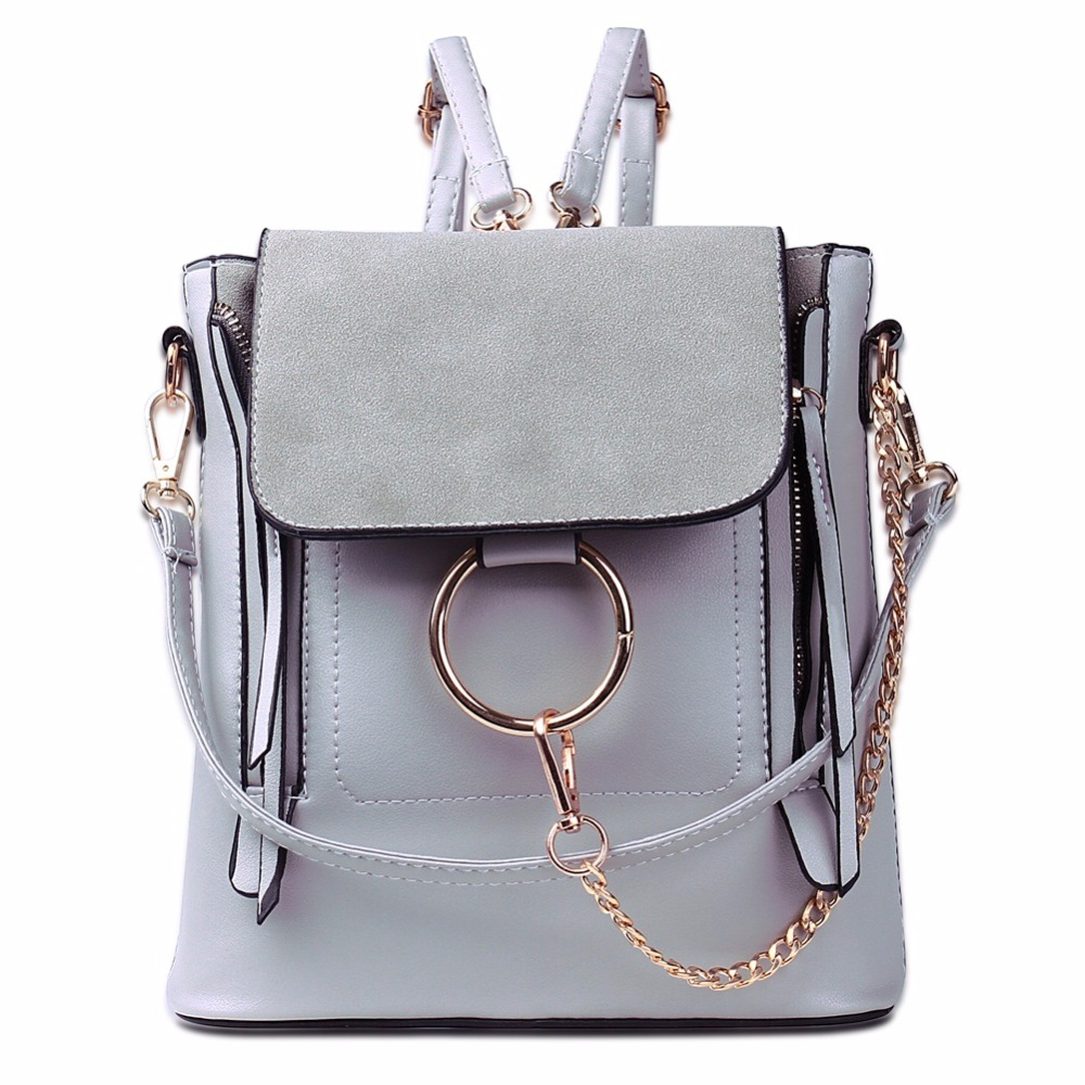 Luxury Brand Backpacks Women High Quality PU Leather Shoulder Bags School Bags For Girls Fashion Chain Designer Female Backpack new 2016 famous brand women backpacks designer high quality pu leather backpack casual women shoulder bags hot sell crossbody
