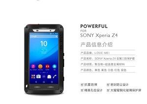 Image 3 - Miłość Mei potężny futerał do Sony Xperia Z3 odporny na wstrząsy silikonowy Metal aluminium tylna pokrywa ze szkłem hartowanym do Xperia Z4/E6533