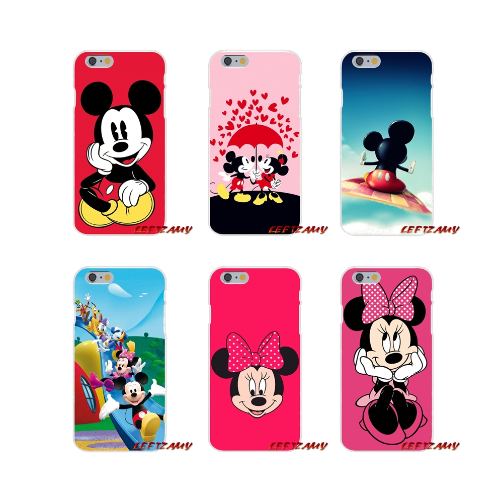 Accessories Phone Shell Covers cartoon <font><b>mickey</b></font> minnie <font><b>mouse</b></font> For <font><b>iPhone</b></font> X XR XS MAX 4 4S 5 5S 5C SE 6 6S 7 <font><b>8</b></font> Plus image