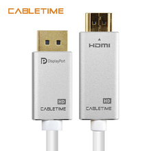 Cabletime DisplayPort To HDMI Cable 1080P 60hz DP To HDMI M/M 1m 1.8m 3m Pre DisplayPort 1.2 for HDTV Projector Laptop PC N164