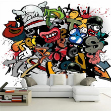 Colorful cartoon graffiti personalized decorative painting wall professional custom mural wholesale wallpaper poster photo
