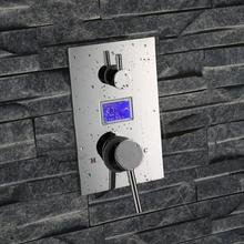 Digitale brausebatterie mit display digitale dusche mischer duscharmatur mischer digitalanzeige dusche panel ohne battary
