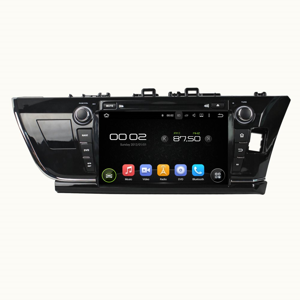 otojeta car dvd player for toyota COROLLA 2014 9 R octa core android 6.0 2GB RAM 32GB ROM stereo BT/radio/dvr/obd2/tpms/camera