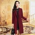 Nova primavera outono mulheres Trench Coat elegante pendulares blusão longa das mulheres cor sólida Outerwear casaco de algodão roupas femininas