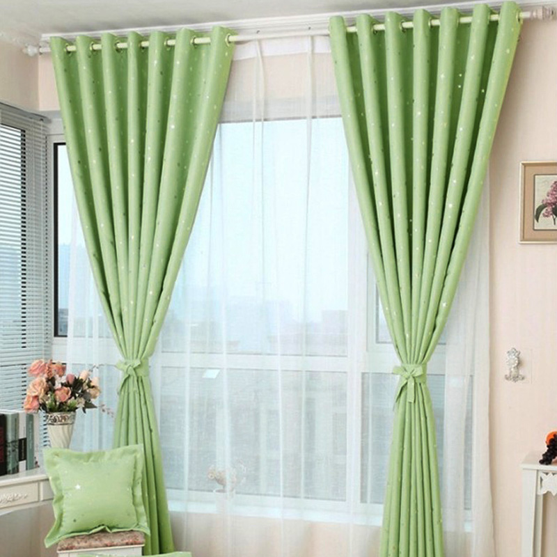 Star Print Window Curtain Panels Curtain Panel Door Balcony Room Divider 10Color Hot