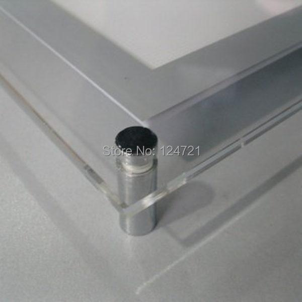 montado na parede de publicidade conduzido publicidade lightbox aluminio led 03
