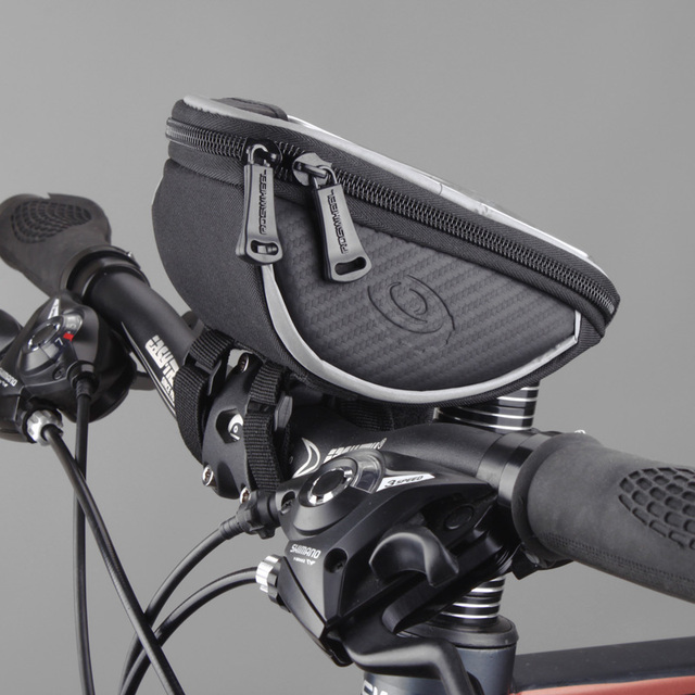 4.2″ 5″ 5.5″ ROSWHEEL Touchscreen Bicycle Bag Handlebar Cycle Cycling Frame Tube Bag Panniers Waterproof Bike Bag Phone Pouch