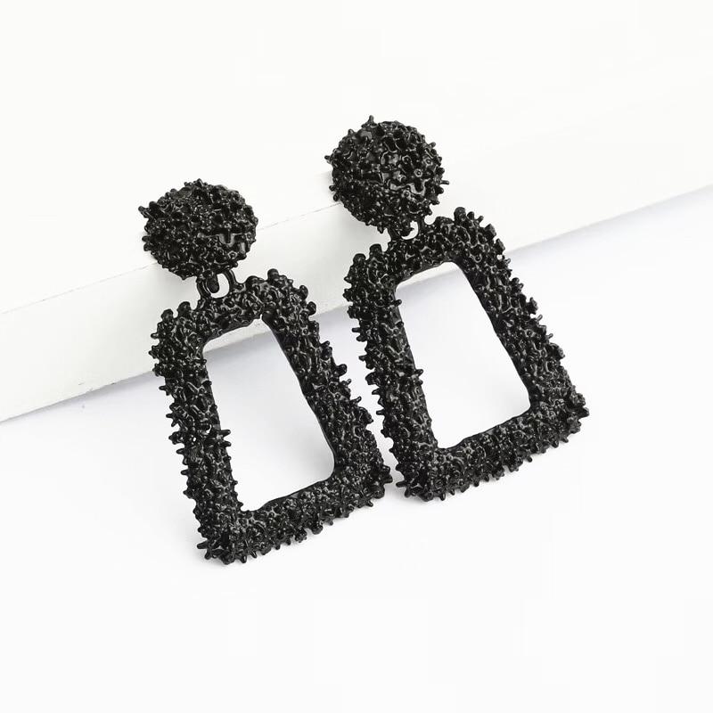 Ufavoirte petites boucles d'oreilles Vintage pour femmes couleur or géométrique déclaration boucle d'oreille métal boucle d'oreille pendante mode bijoux tendance