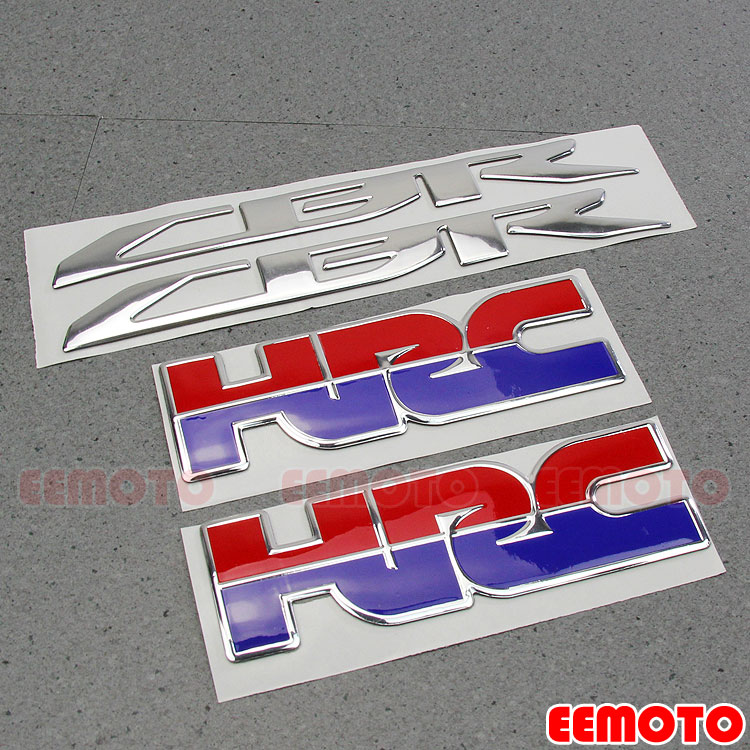 Motorcycle helmet Tank Pad Motorbike Fairing Decals Logo <font><b>Stickers</b></font> for HONDA HRC CBR CBR1000RR CBR650F CBR600RR CBR500R <font><b>CBR300R</b></font> image