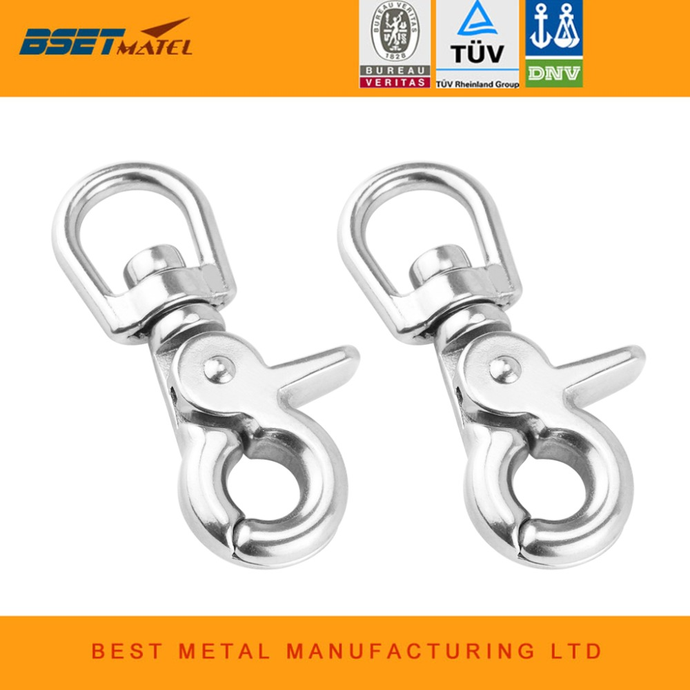 2X BSET MATEL stainless steel 316 Webbing Bag Trigger Swivel Lobster Clasps Clips Snap Hooks Weave Paracord Lanyard Buckles цены онлайн