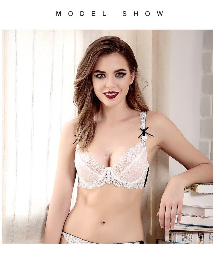 74de2a03648 2019 Plus Size E Cup Sexy Lace Lingerie Transparent Bra And Panty ...