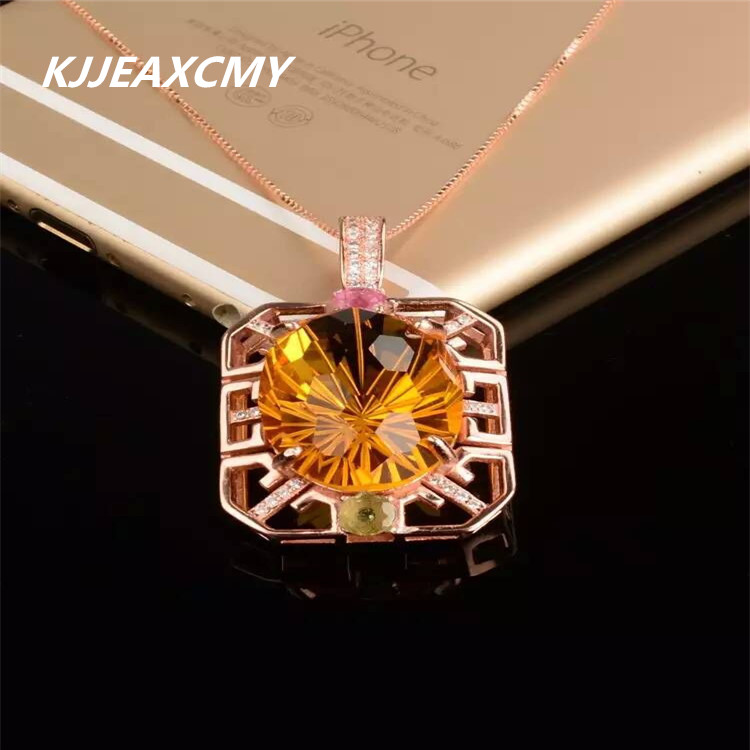 KJJEAXCMY boutique jewelry,Natural yellow crystal womens necklaces, pendants, customized jewelry wholesale, S925 silver wholesaKJJEAXCMY boutique jewelry,Natural yellow crystal womens necklaces, pendants, customized jewelry wholesale, S925 silver wholesa