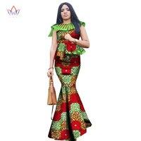 2019 Summer Africa Dashiki African Women Clothing Africa2 piece for Women Brand Clothing Women Printed African Skirt set WY2501
